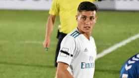 Óscar Rodríguez en un partido con el Castilla. Foto: Instagram (@oscar_rodri10)