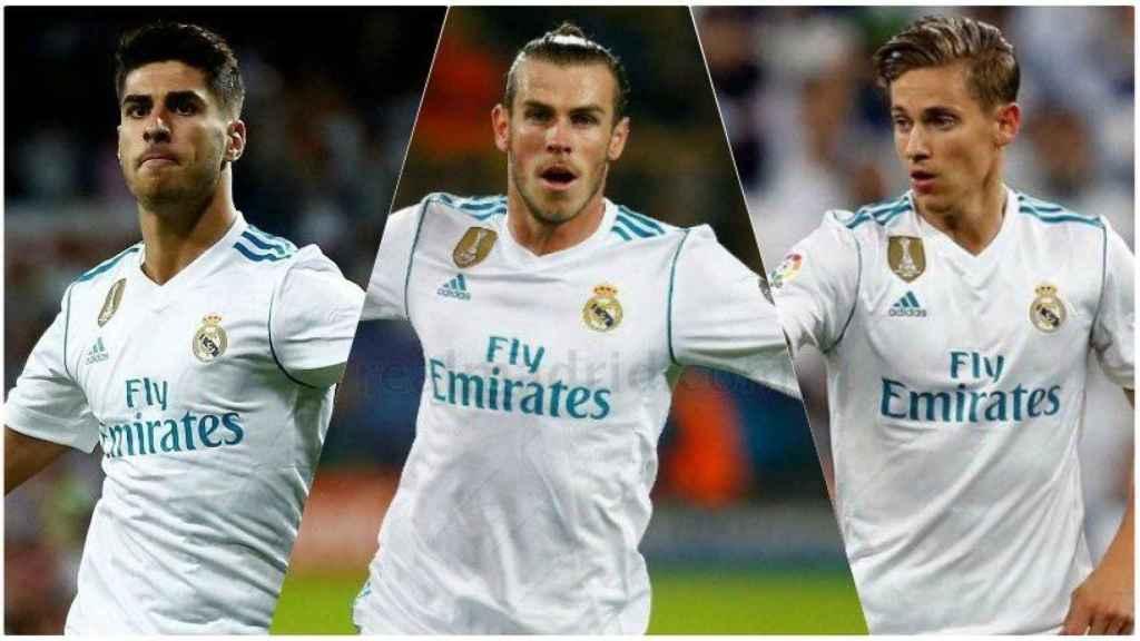 Asensio, Bale y Marcos Llorente