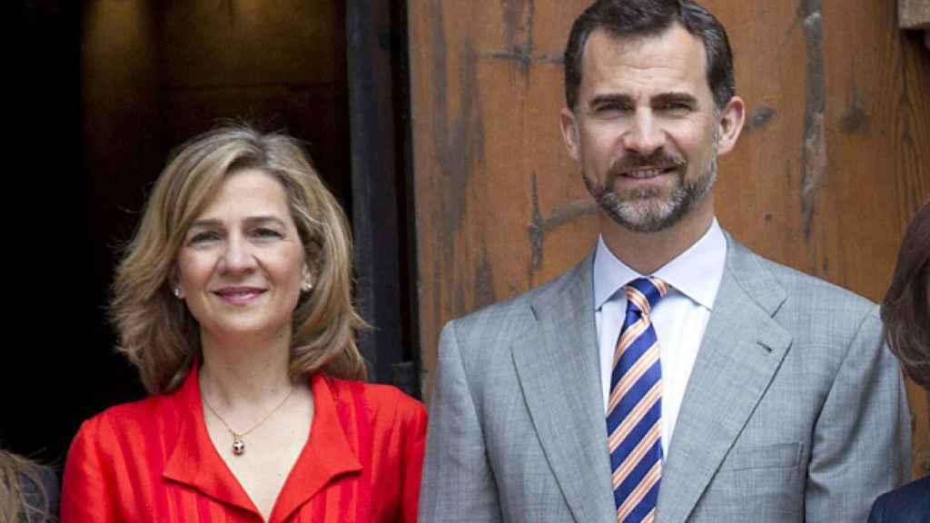 Cristina y Felipe de Borbón. Su relación ya es casi inexistente