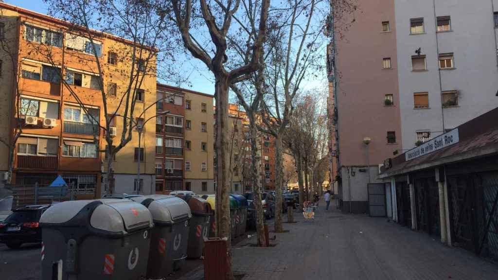 El barrio de Sant Roc es uno de los más deprimidos de la provincia de Badalona