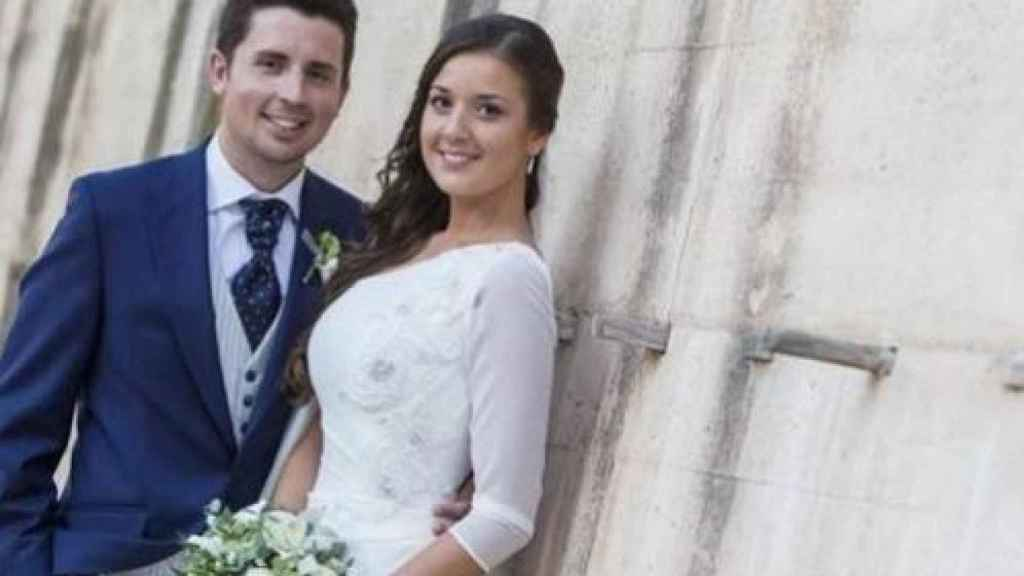 Antonio y Maje el día de su boda, hace menos de dos años