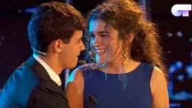 Alfred y Amaia durante su actuación estelar, City of stars al piano, en OT.