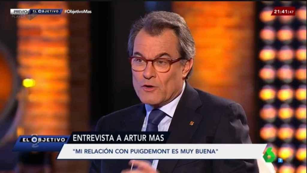 Artur Mas, durante su entrevista en 'El Objetivo'