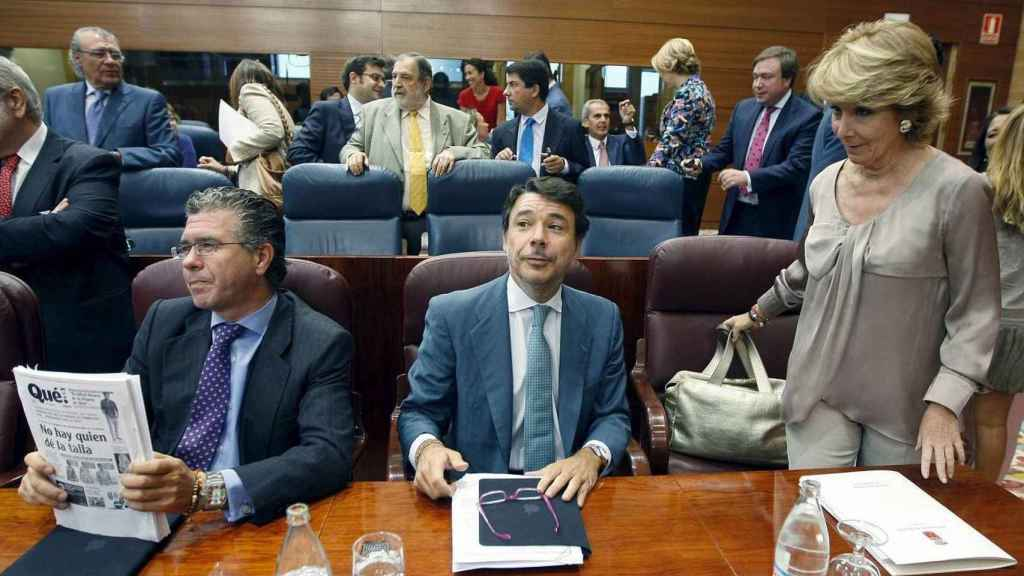 Esperanza Aguirre junto con Ignacio González y Francisco Granados.