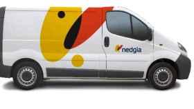 Una furgoneta con el logotipo de Nedgia, la nueva marca de distribución de Gas Natural.