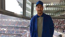 Sergio Ramos con su atrevido conjunto.