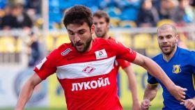 Georgi Dzhikiya en un partido con el Spartak de Moscú.