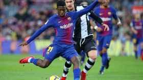 Ousmane Dembélé, en el partido Barcelona - Levante.