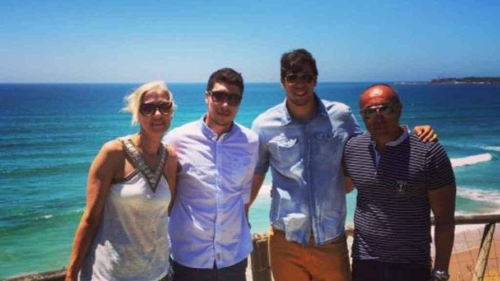 La familia Dujshebaev al completo.