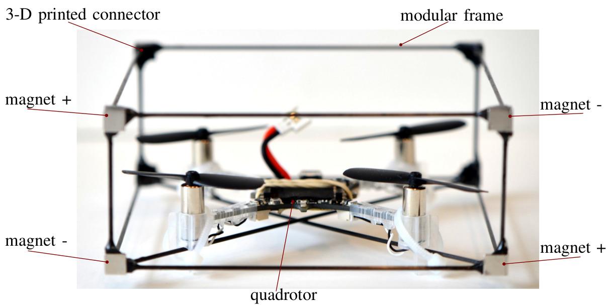 drone modquad enjambre
