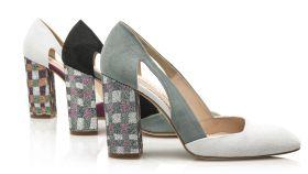 Zapatos de tacón de la exposición MOMAD.