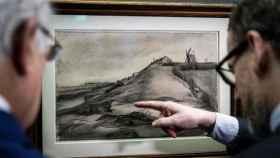 Descubren un nuevo cuadro de Van Gogh, 'La colina de Montmartre con una cantera'.