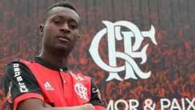 Marlos Moreno, el nuevo compañero de Vinicius en el Flamengo. Foto: Twitter (@Flamengo)