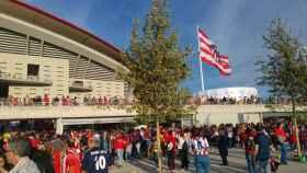 Aledaños del Wanda Metropolitano.