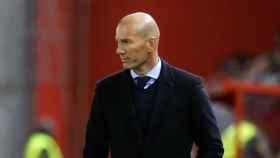 Zidane, en el partido contra el Numancia