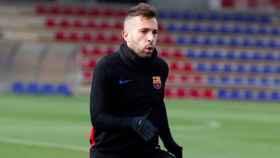 Jordi Alba se entrena. Foto Instagram (@jordialbaoficial)