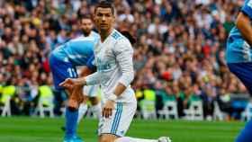 Cristiano Ronaldo, tras una ocasión frente al Málaga Foto: Manu Laya / El Bernabéu