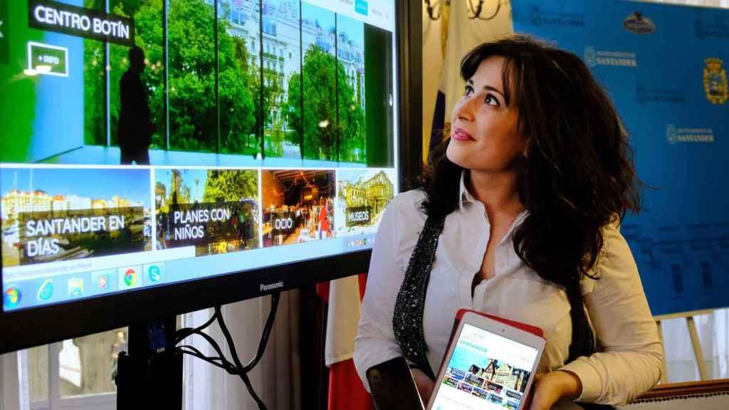 Imagen de la presentación de la nueva web de turismo de Santander.