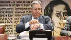 El ministro del Interior Juan Ignacio Zoido a su llegada a la Comisión de Interior del Senado.