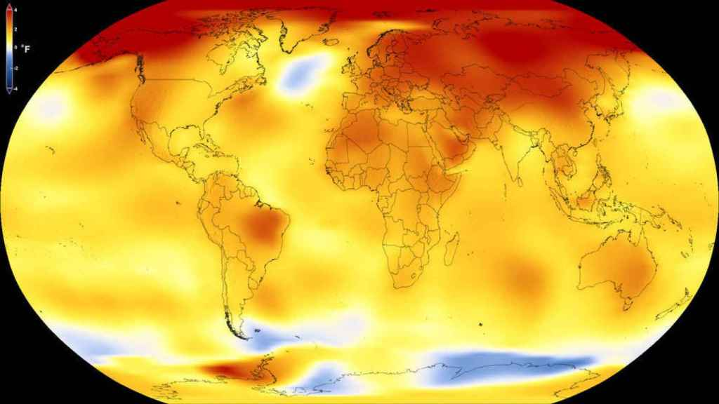 Mapa de las temperaturas.