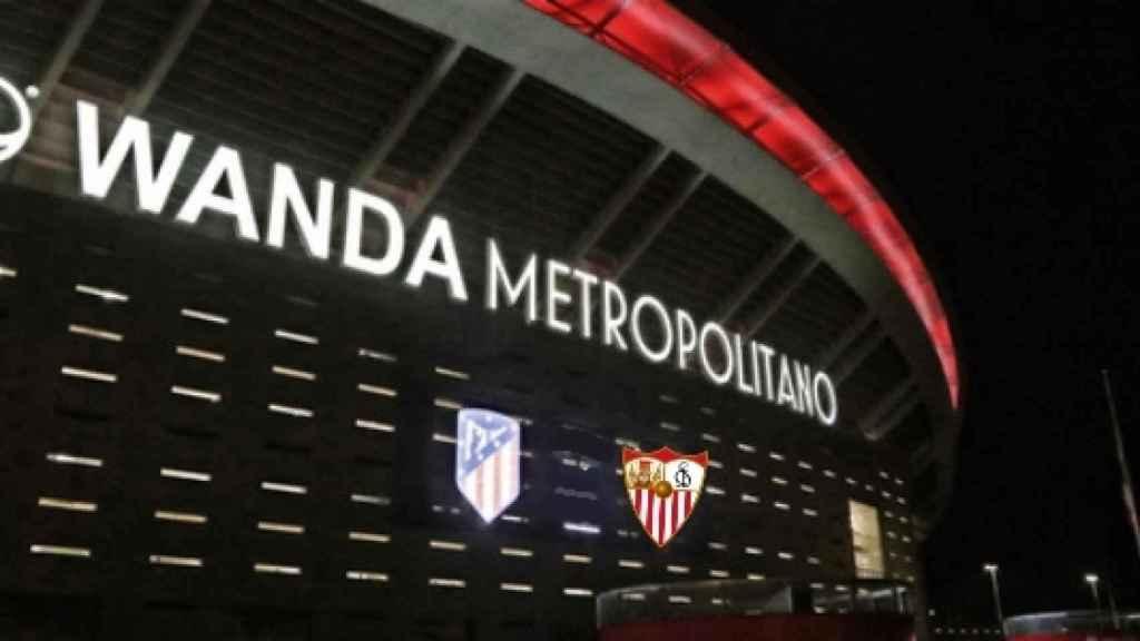 El Wanda Metropolitano, antes del Atlético - Sevilla