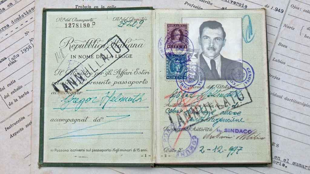 El pasaporte de Mengele.