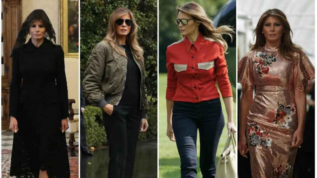 Los 10 looks de Melania Trump.