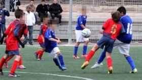 Imagen de un partido del equipo Tómbola alevín.