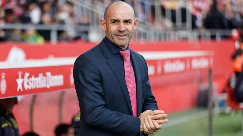 Paco Jémez, en el partido Girona - Las Palmas.