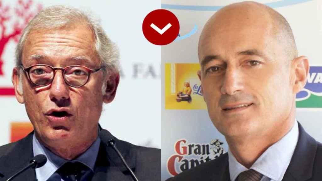 Isak Andic (Mango) y Aurelio Antuña (Puleva)