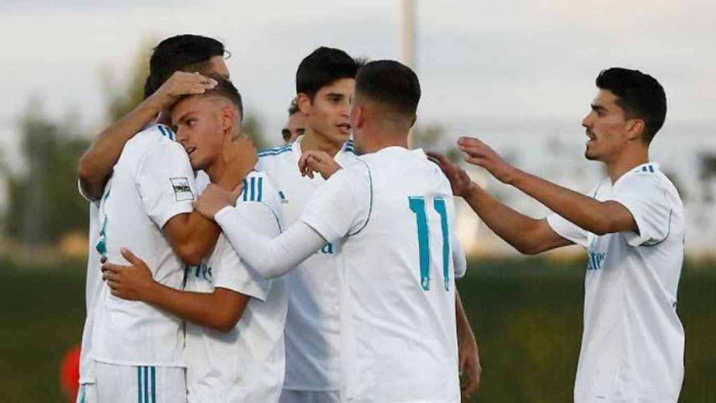 El Castilla celebra su gol ante la Ponferradina