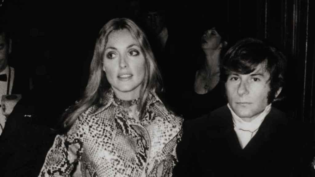 Sharon Tate y Roman Polanski, en el estreno en Londres.