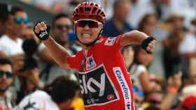 Chris Froome durante la última Vuelta a España.