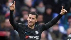 Hazard celebra un gol. Foto Twitter (@ChelseaFC)