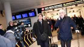 Puigdemot, ya huido de la Justicia española, en un viaje a Dinamarca.