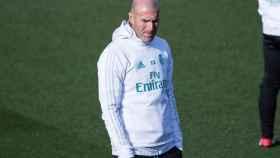 Zidane, durante un entrenamiento.