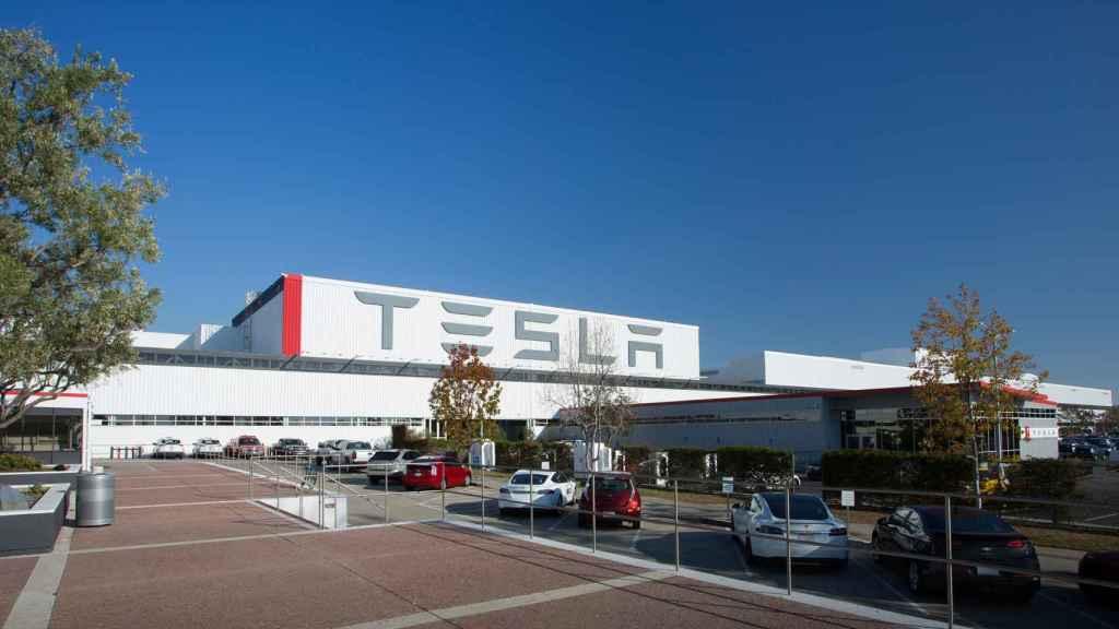 La fábrica de Tesla en Fremont, California.