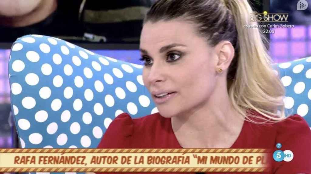 María Lapiedra en el programa Sálvame.