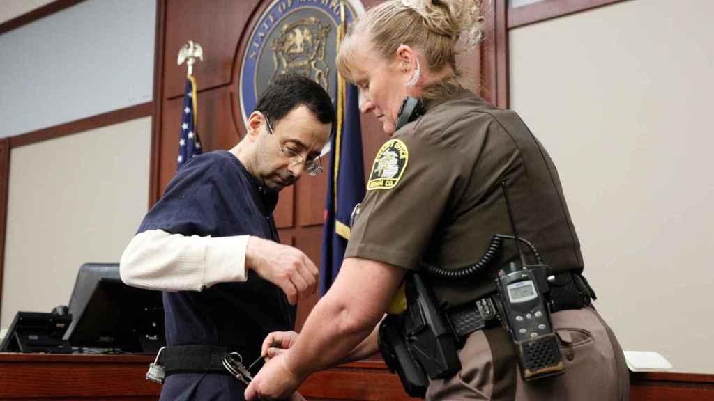 Larry Nassar durante el juicio.