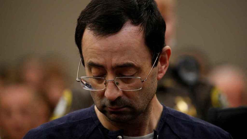 Larry Nassar, en el momento de escuchar el veredicto.