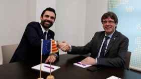 Torrent y Puigdemont se han reunido este martes en Bruselas