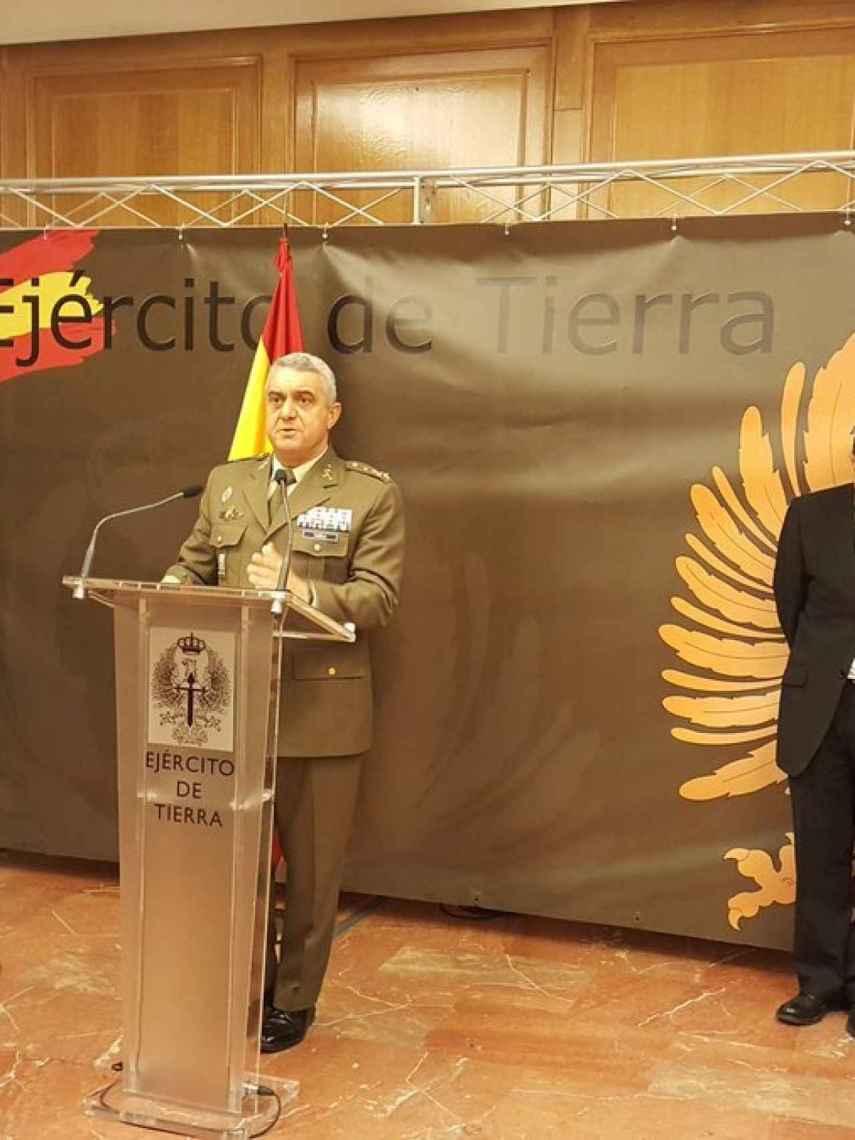 El JEME general Varela en su alocución a los periodistas especializados en Defensa.