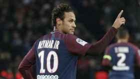 Neymar, celebrando un gol con el PSG. Foto: psg.fr
