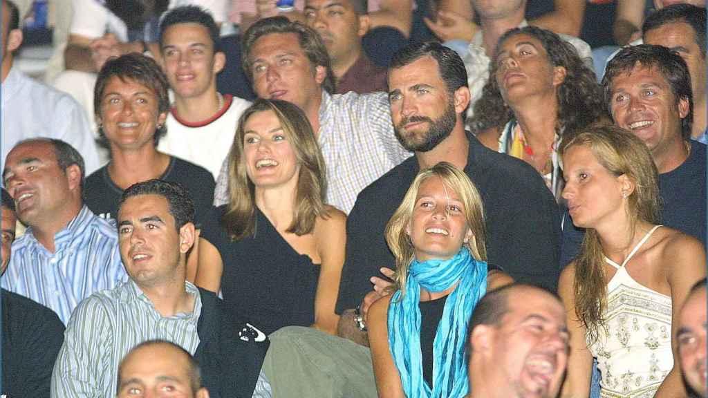 Letizia y Felipe en el concierto de Jaume Anglada en 2004.