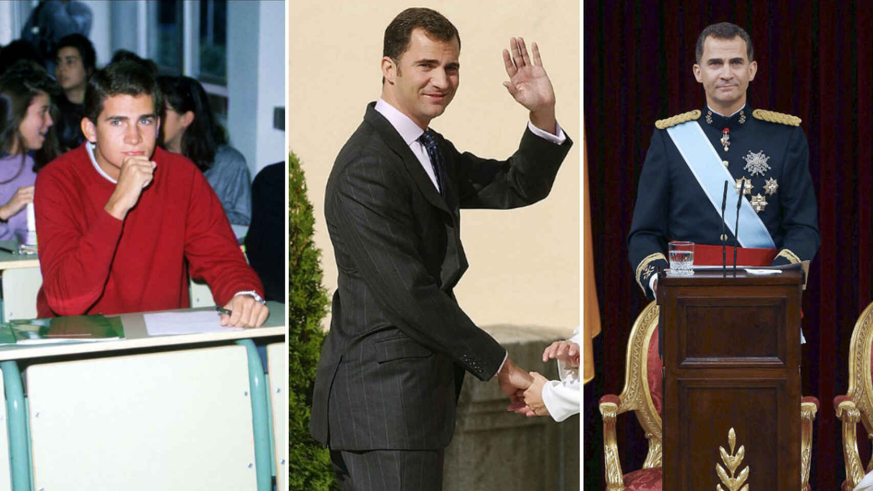 Los 50 años del rey Felipe VI, en 50 imágenes