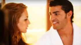 Paula Echevarría y Miguel Torres en el videoclip de David Bustamante.