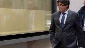 El expresidente de la Generalitat, Carles Puigdemont, paseando por Bruselas.