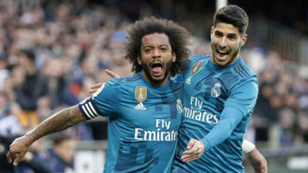 Marcelo y Asensio en Mestalla.