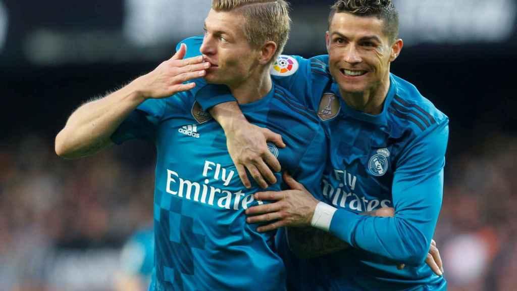 Kroos y Cristiano.