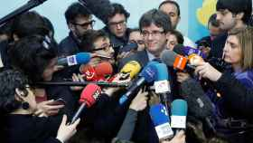 Puigdemont, tras su reunión en Bruselas con Torrent.